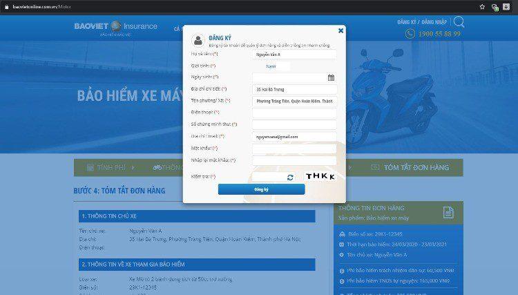 Đăng ký tài khoản Bảo Việt