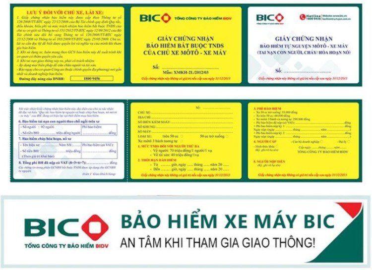 Hình ảnh bảo hiểm xe máy bắt buộc BIC