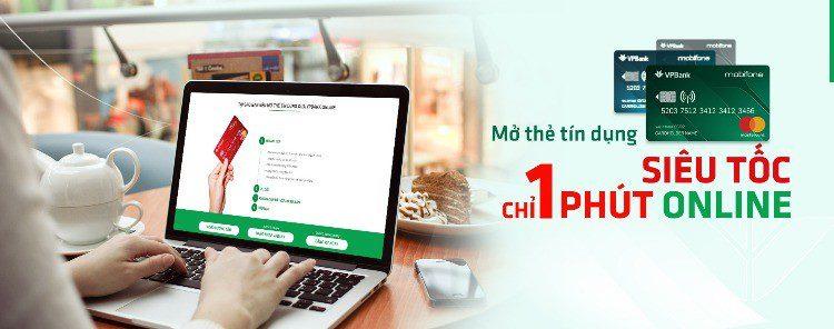 Mở thẻ tín dụng VPBank siêu tốc qua hình thức online