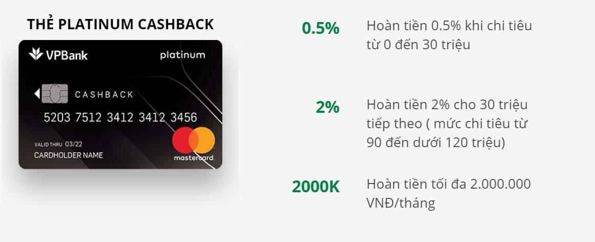 Thẻ tín dụng Platinum Cashback VPBank