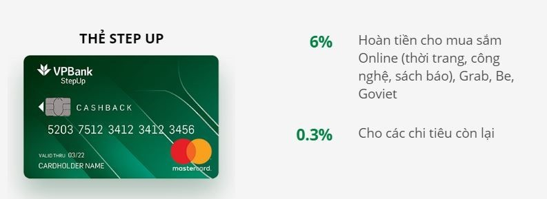 Thẻ tín dụng VPBank - Stepup