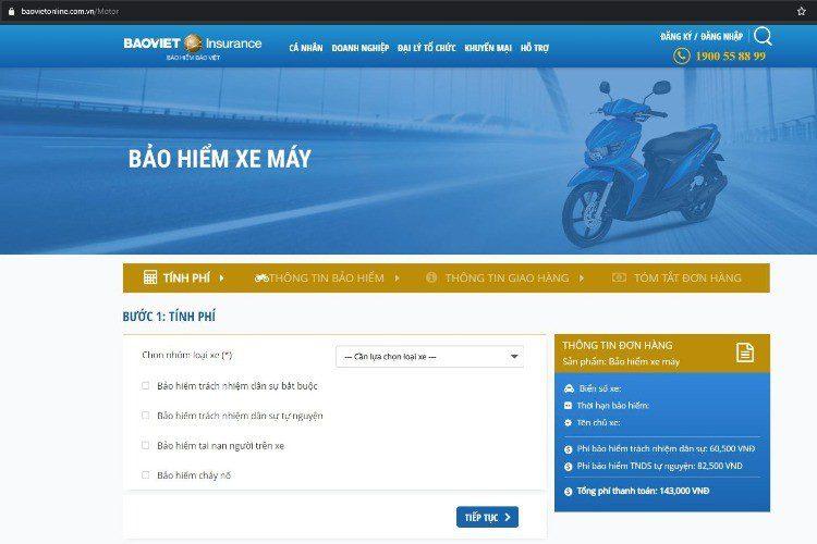 Truy cập website Bảo Việt trực tuyến