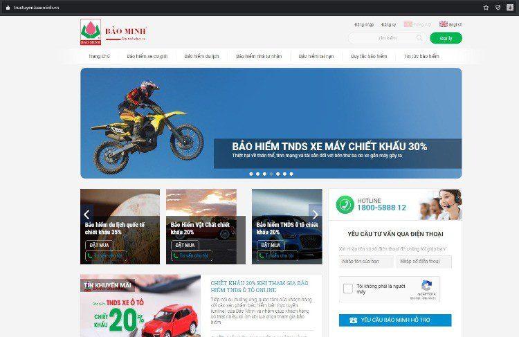 Website mua bảo hiểm Bảo Minh trực tuyến