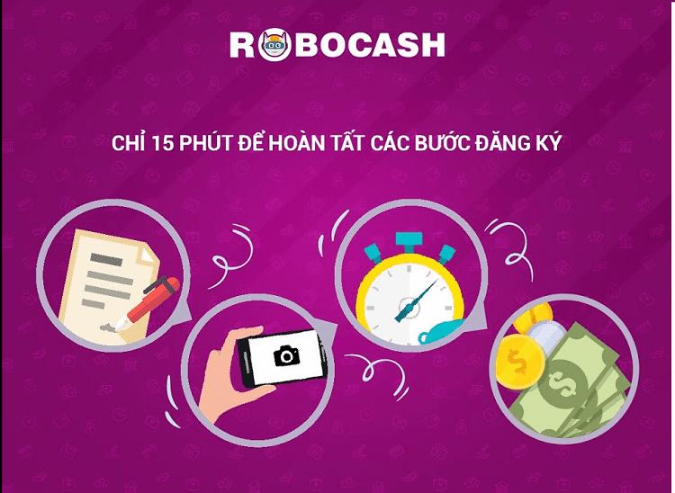 15 phút hoàn tất các bước đăng ký vay tại Robocash