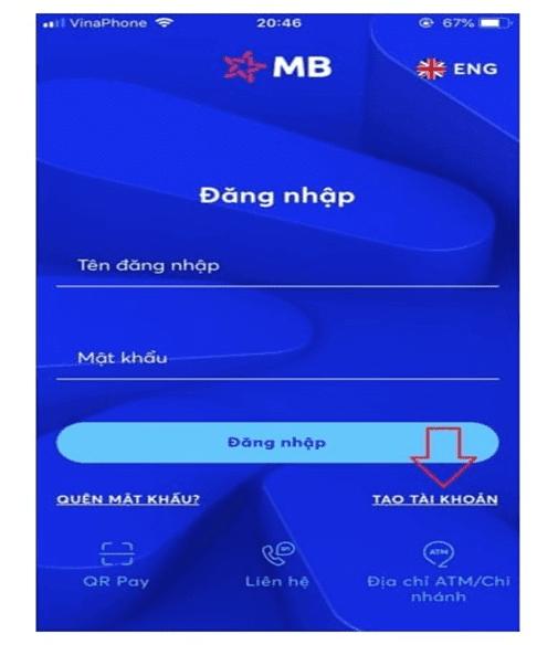 Mở app và tạo tài khoản