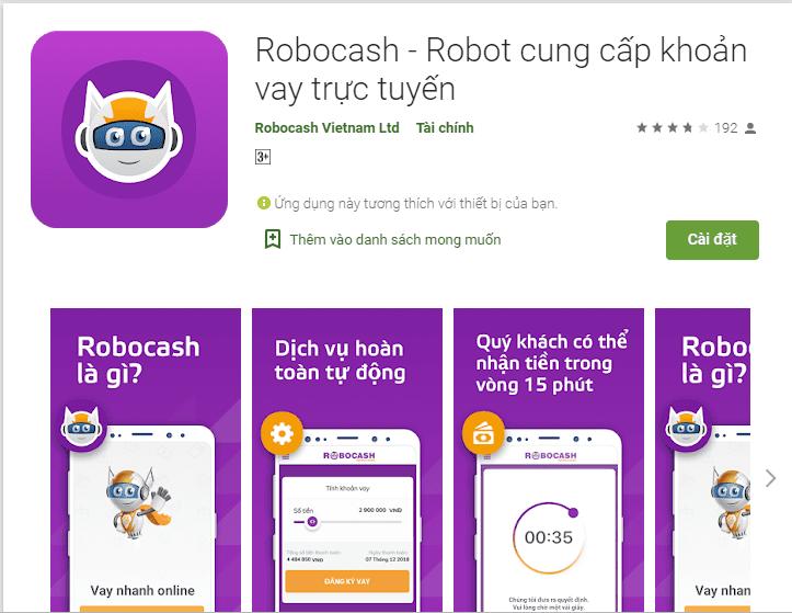 Vay tiền qua app Robocash