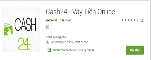 Cách đăng ký vay tiền qua app Cash24