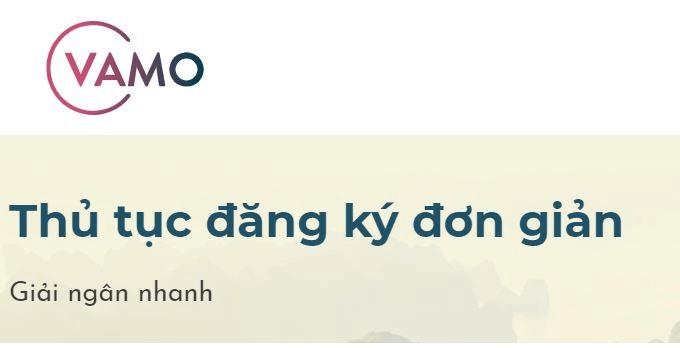 Thủ tục vay tiền Vamo đơn giản