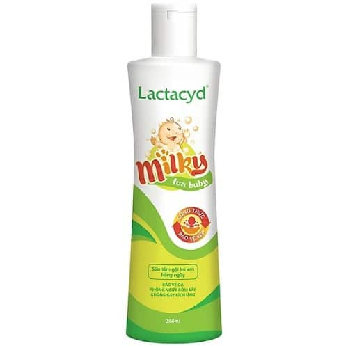 Sữa tắm gội Lactacyd Milky bảo vệ làn da non nớt của bé