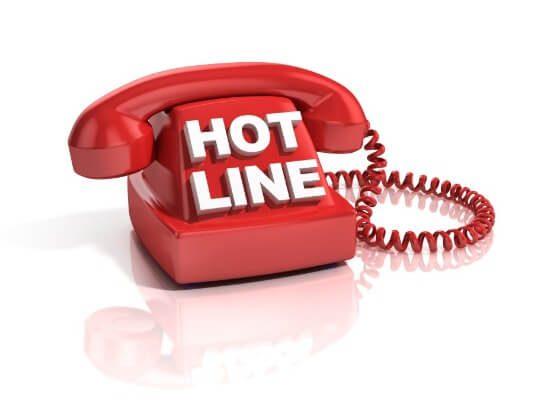 Gọi hotline khi có vấn đề