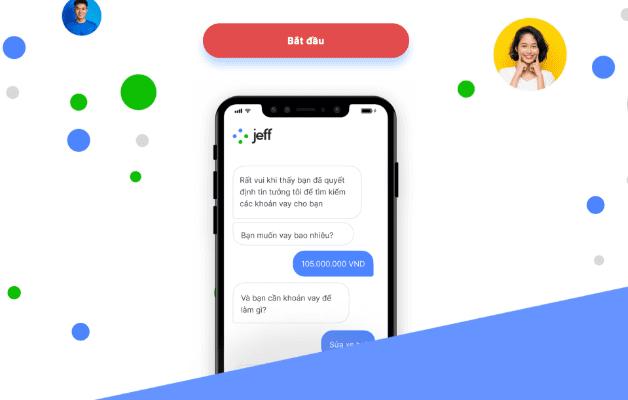 """Đăng nhập web Jeff app và bấm """"Bắt đầu"""""""