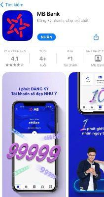 Mở tài khoản số đẹp miễn phí với App MB Bank