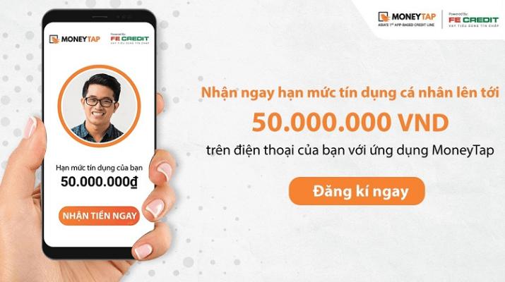 MoneyTap - Vay siêu tốc với hạn mức tín dụng lên tới 50 triệu đồng