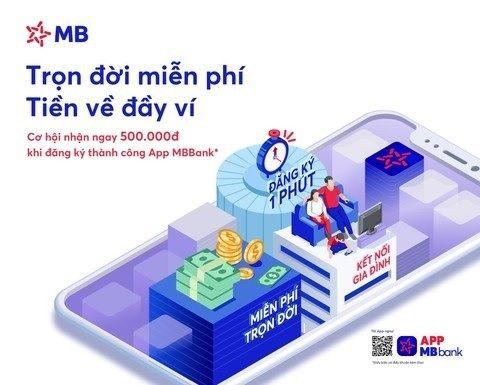 Miễn phí mở tài khoản qua App MB Bank