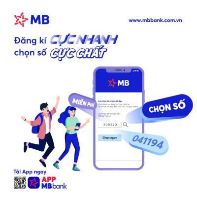 Mở tài khoản MB Bank số đẹp miễn phí trực tuyến