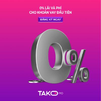 Vay tiền nhanh tại Takomo lãi suất 0%