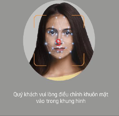 Quay các góc của khuôn mặt