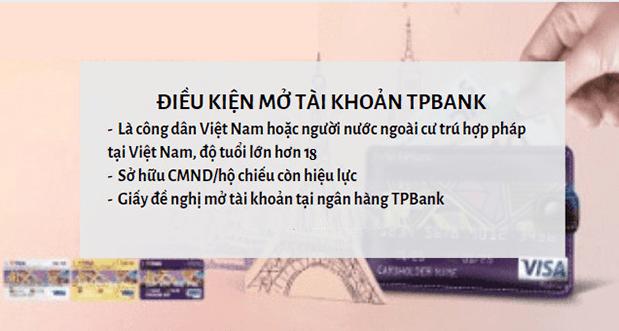 Điều kiện mở tài khoản TPBank