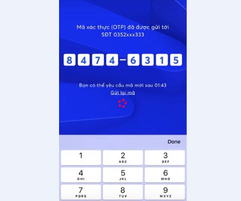 Nhập mã OTP