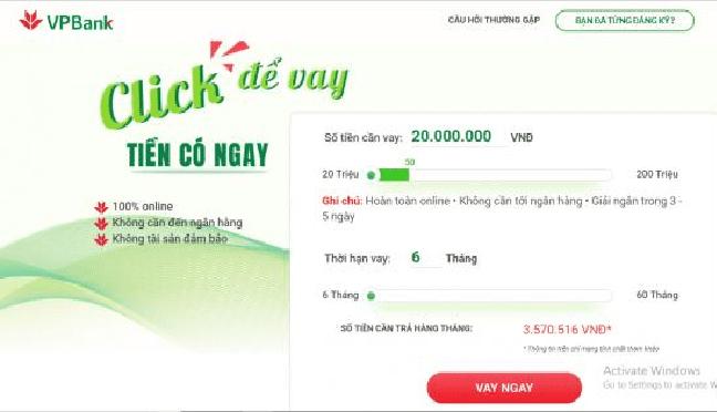 VPBank Online - Vay tiền dễ dàng