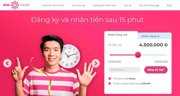 ATM Online - Nhận tiền sau 15 phút