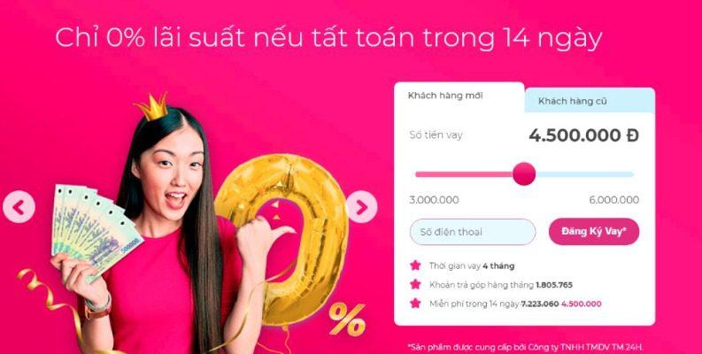Vay ngay để hưởng lãi suất 0% tại ATM Online