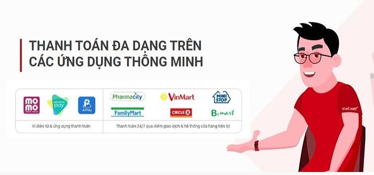 Thanh toán khoản vay Vietcredit dễ dàng