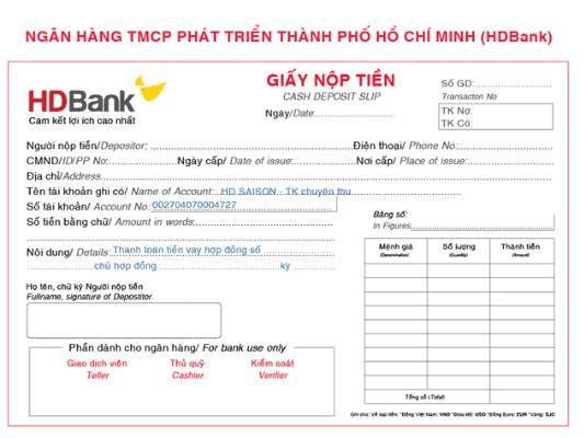 Thanh toán tại HDBank