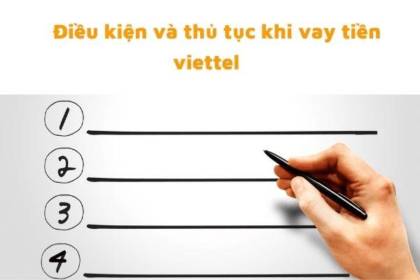 Điều kiện, thủ tục vay tiền trả góp Viettel