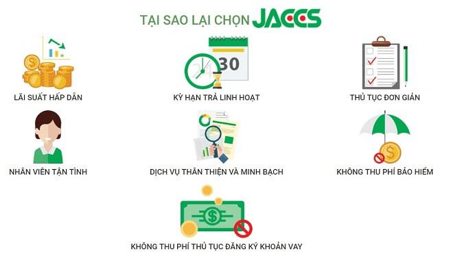 Ưu điểm khi vay tiền tại Jaccs