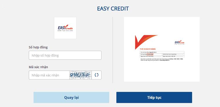 Cách tra cứu hợp đồng vay tiền Easy Credit